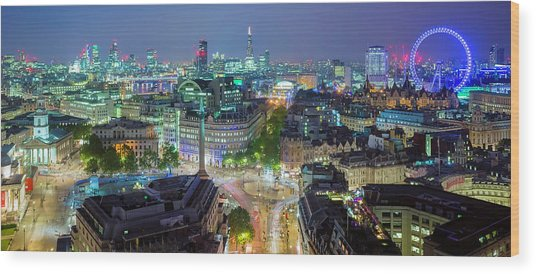 Colourful London Wood Print