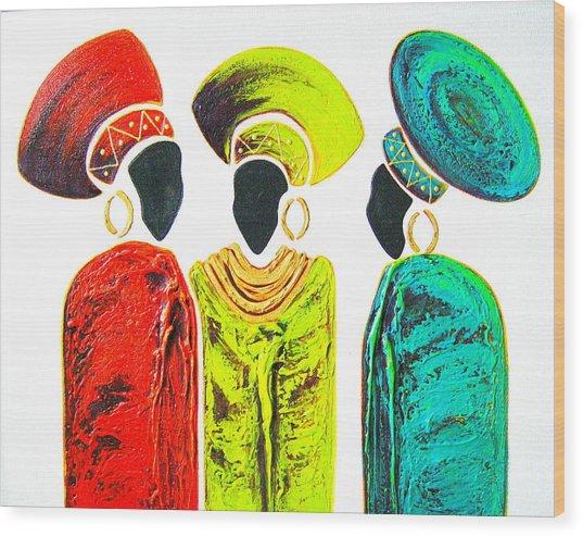 Colourful Trio - Original Artwork Wood Print