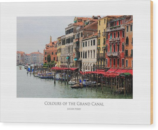 Colours Of The Grand Canal Wood Print