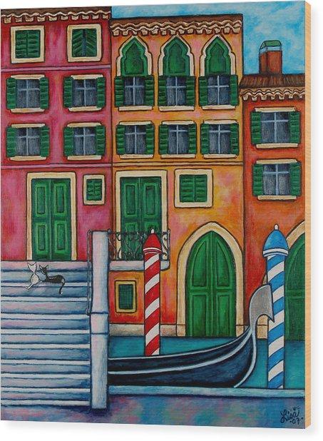 Colours Of Venice Wood Print