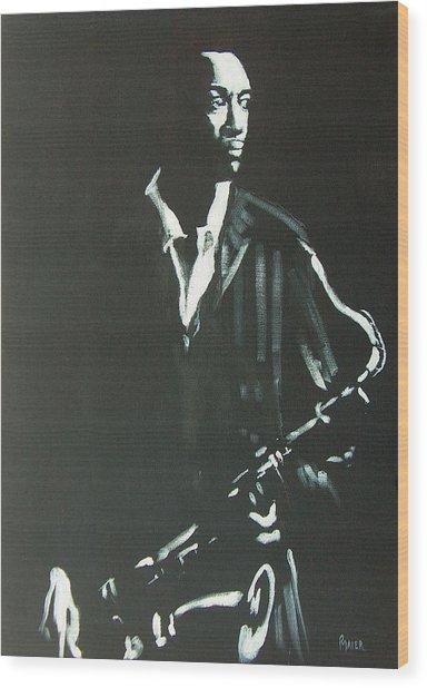 Coltrane Wood Print by Pete Maier