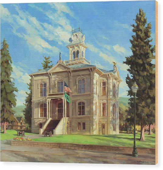 Columbia County Courthouse Wood Print