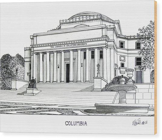 Columbia Wood Print