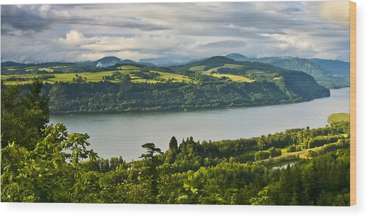 Columbia Gorge Scenic Area Wood Print