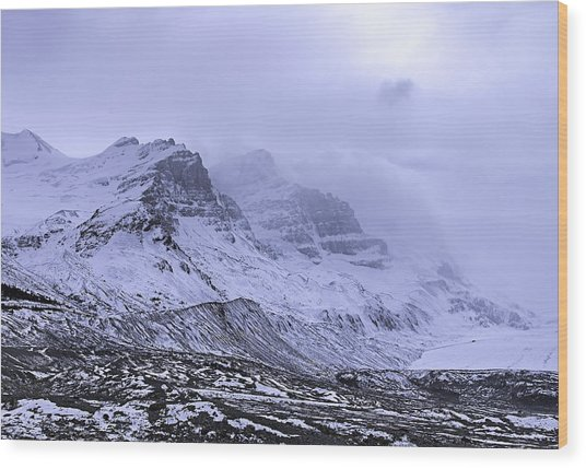 Columbia Ice Fields Wood Print