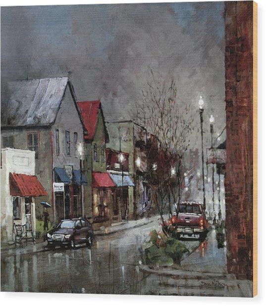 Columbia Rain Wood Print
