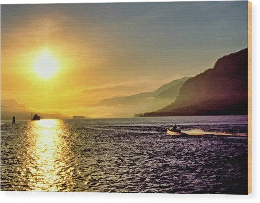Columbia River 001 Wood Print