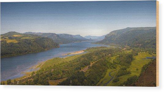 Columbia River Gorge  Wood Print by Drew Castelhano