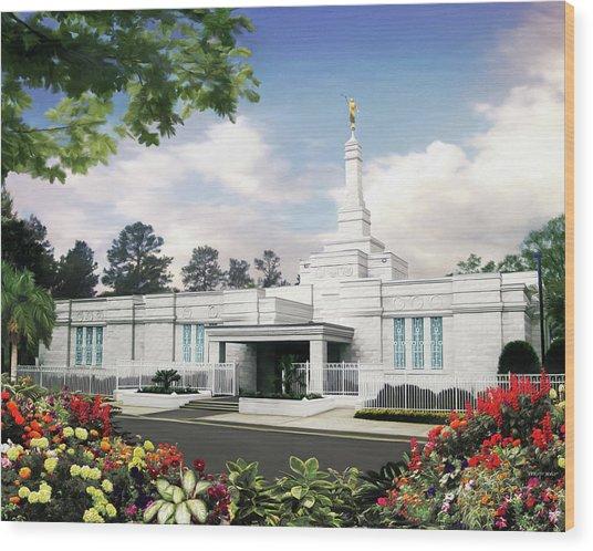 Columbia South Carolina Temple Wood Print by Brent Borup
