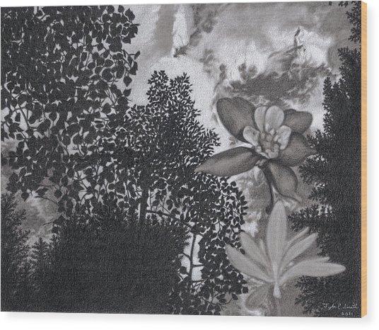 Columbine Sky Wood Print by Tyler Smith
