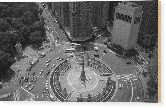 Columbus Circle Nyc C.2005 Wood Print