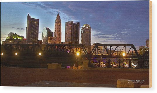 Columbus Night 1517 Wood Print