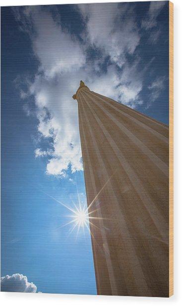 Column To Sky Wood Print