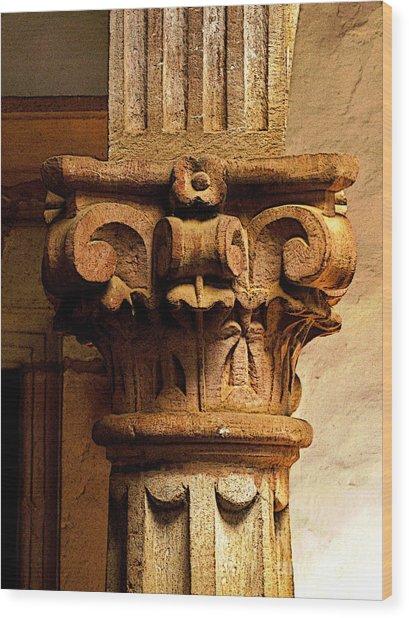 Column's Capital Wood Print