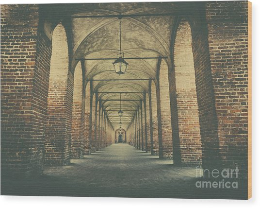 Columns In Sabbionetta, Italy Wood Print