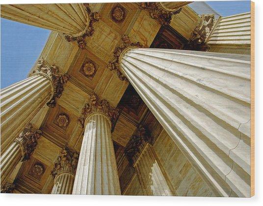 Columns. Supreme Court Wood Print