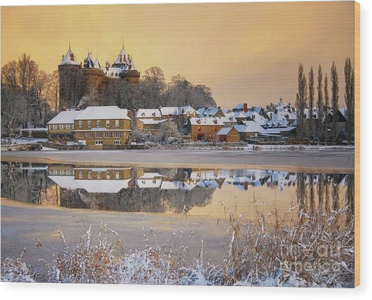 Combourg Castle  Wood Print