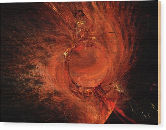 Combustion Wood Print