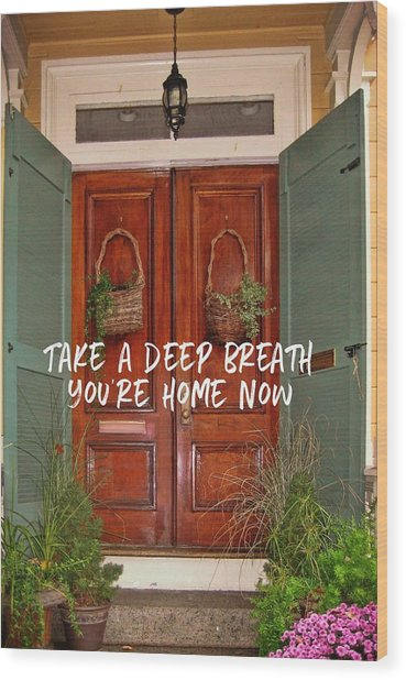 Come On In Quote Wood Print by JAMART Photography