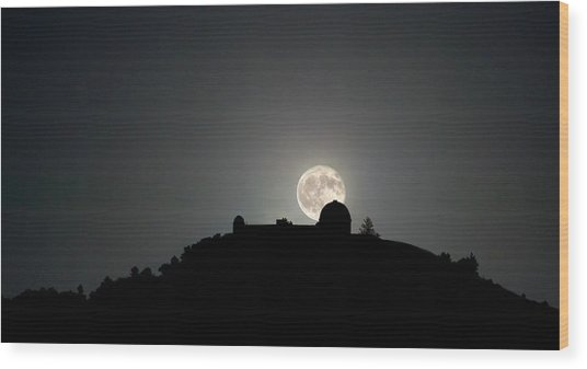 Come On You Stranger, And Shine In On Lick Observatory Wood Print