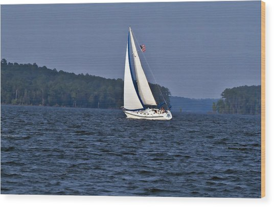 Come Sail With Me Wood Print by Michael Whitaker