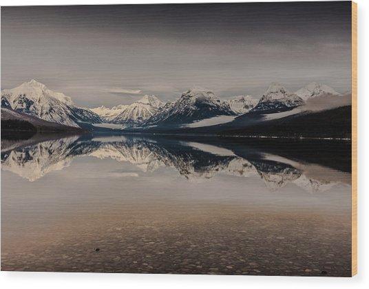 Lake Mcdonald Glacier National Park Wood Print