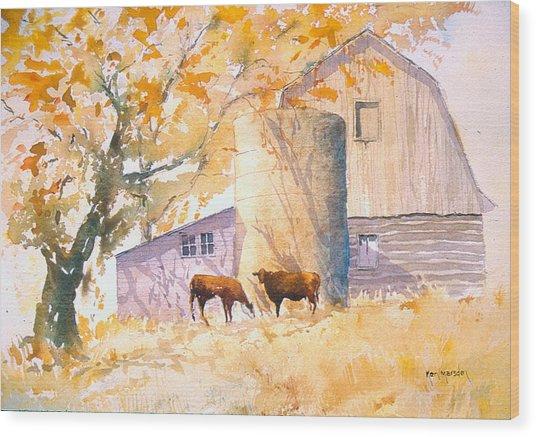 Comfortable-autumn Wood Print