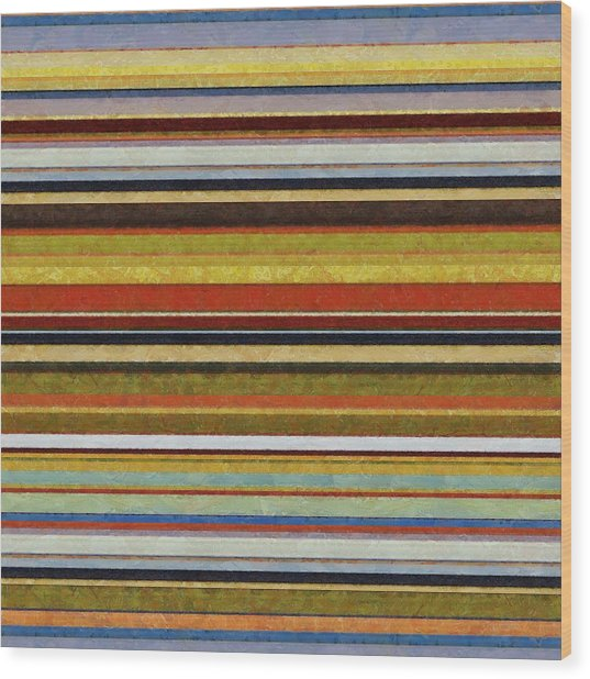 Comfortable Stripes Vl Wood Print