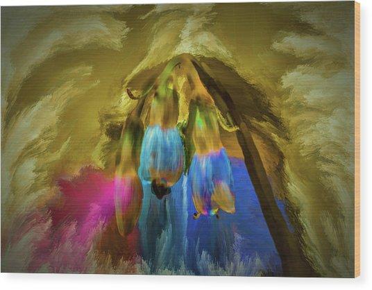 Comfrey Paint #h8 Wood Print