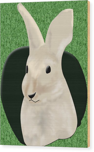 Coming Out The Rabbit Hole Wood Print by Melissa Stinson-Borg