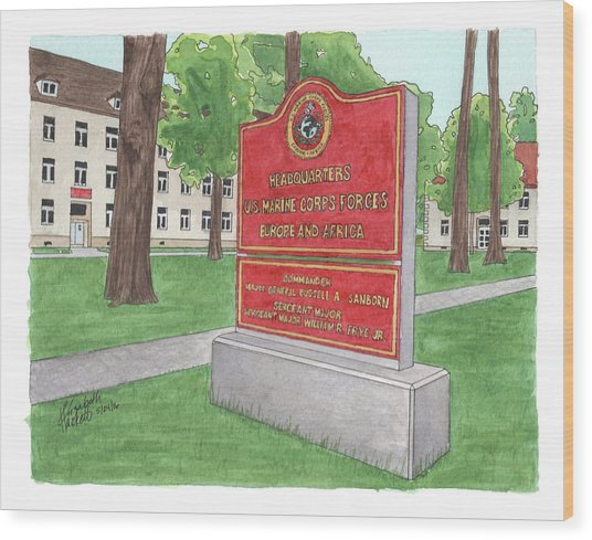 Commander Major General Russell A. Sanborn - Marforeuraf Wood Print