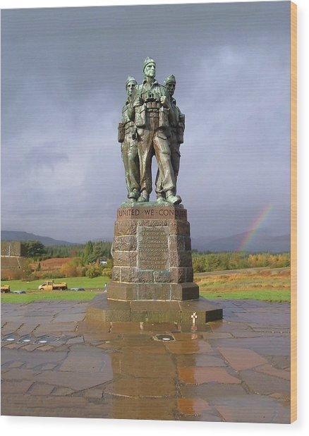 Commando Memorial Wood Print