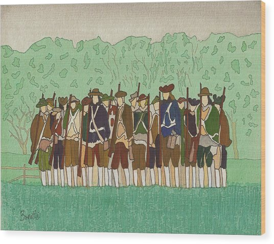 Committeemen On The Green Wood Print by Robert Boyette