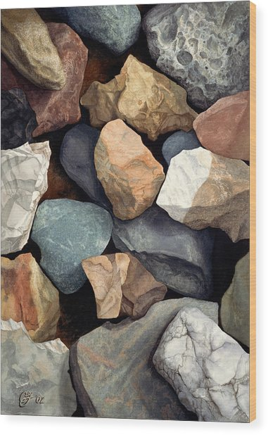 Common Stone Wood Print by Craig Gallaway