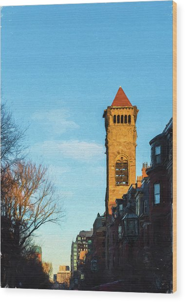 Commonwealth Avenue In Boston Wood Print