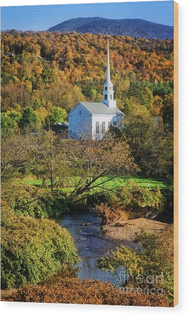 Wood Print featuring the photograph Community Church by Scott Kemper