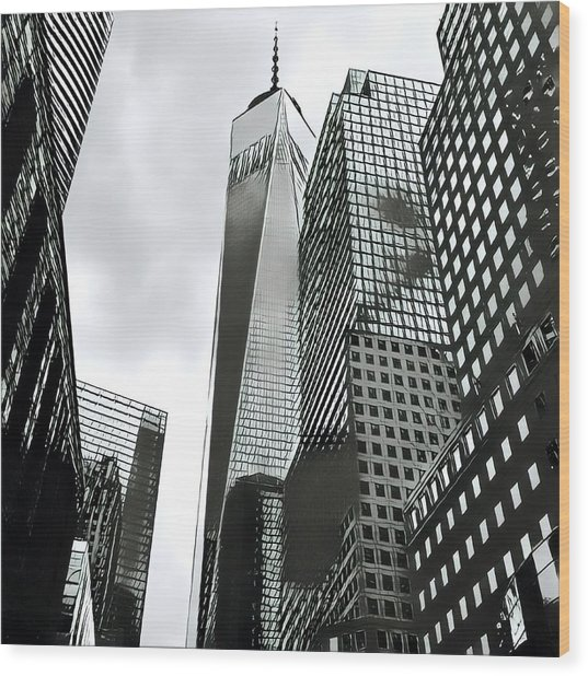 Commuters' View Of 1 World Trade Center Wood Print