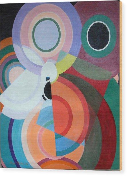 Complement Wood Print by Muriel Dolemieux