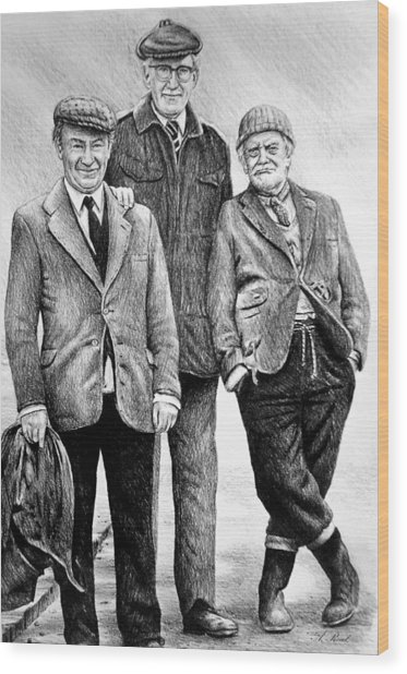 Compo Clegg And Foggy 2 Wood Print