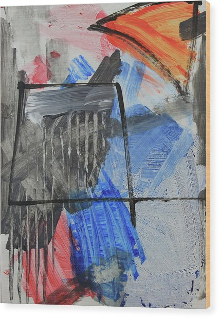 Composition 20188 Diptych Left Panel Wood Print