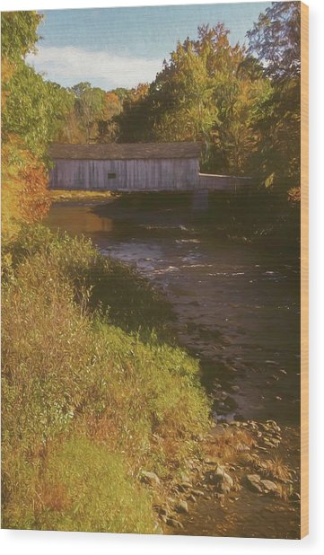 Comstock Covered Bridge Wood Print