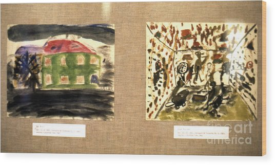 Concentration Camp Art Wood Print