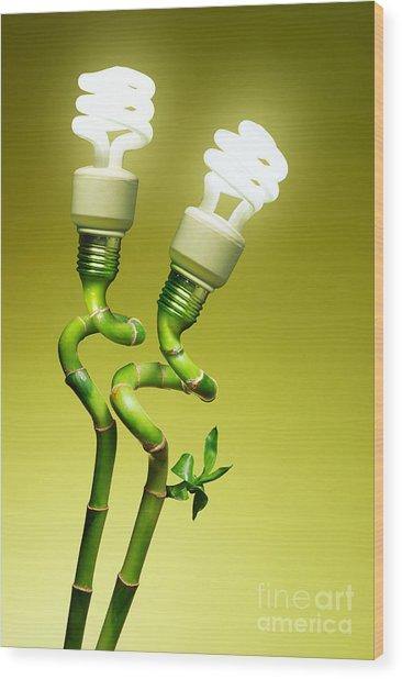 Conceptual Lamps Wood Print