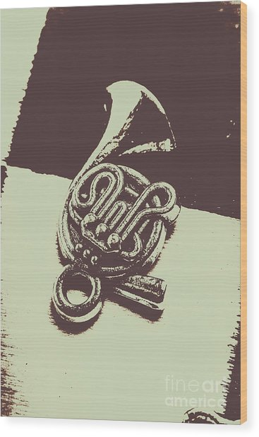 Concert Of A French Horn Wood Print
