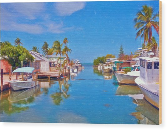 Conch Key Waterfront Living 3 Wood Print