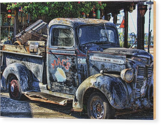 Conch Truck Wood Print