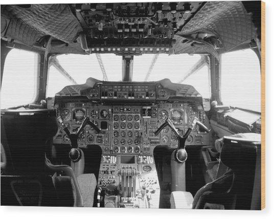 Concorde Cockpit Wood Print by Patrick  Flynn