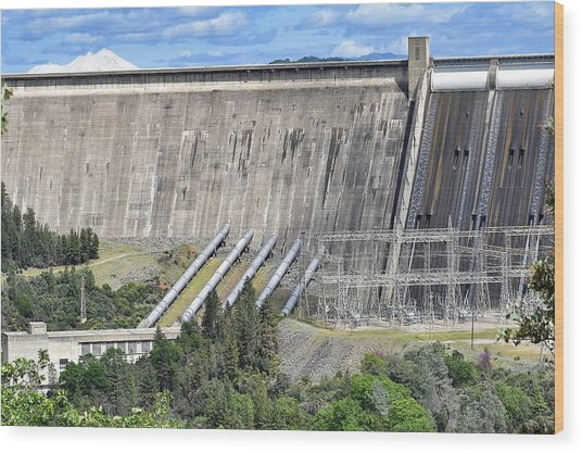 Concrete Arch-gravity Dam Wood Print