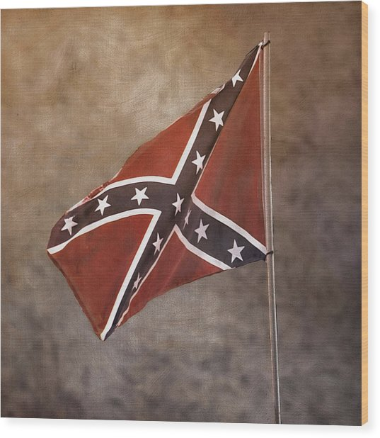 Confederate Battle Flag Wood Print