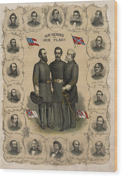 Confederate Generals Of The Civil War Wood Print